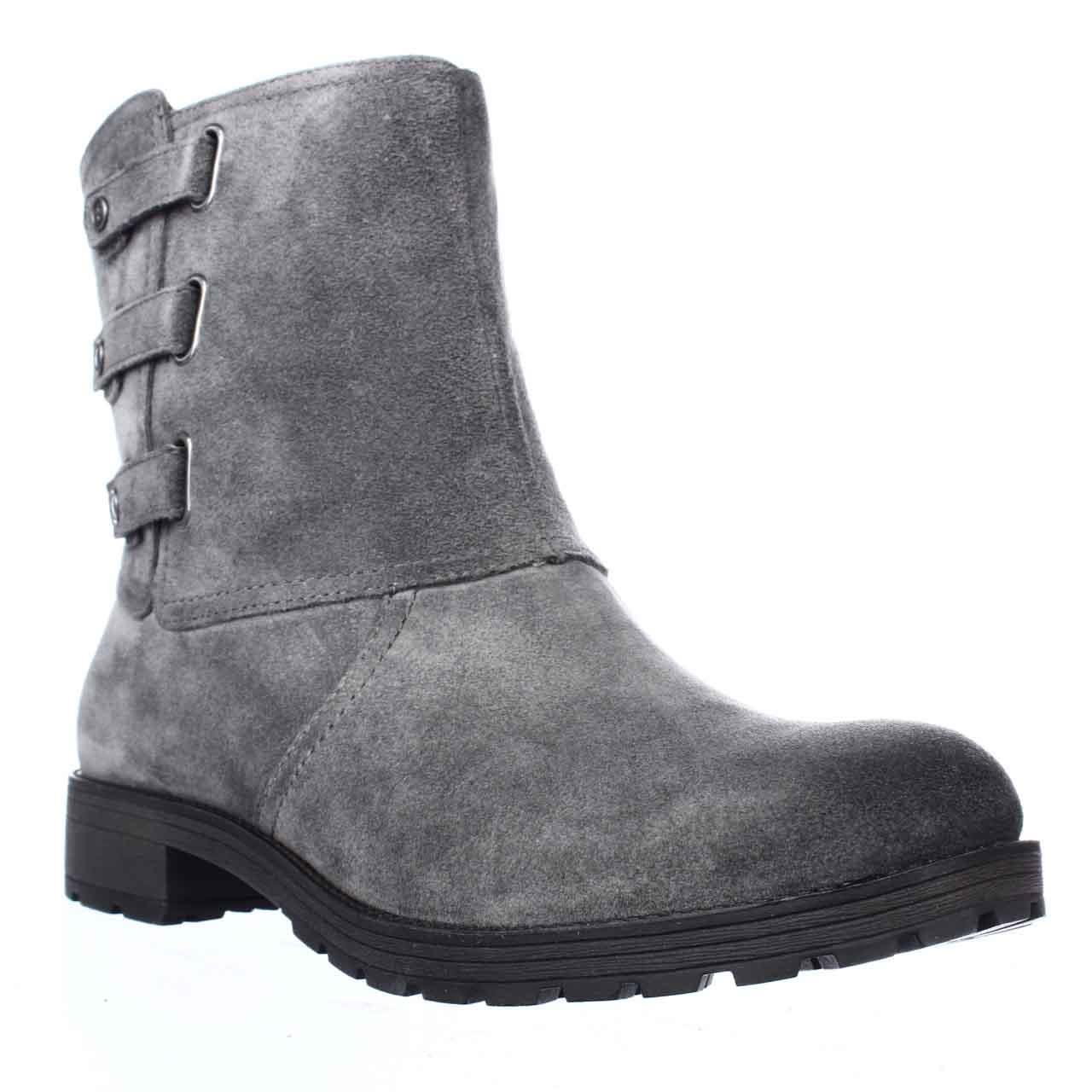 Womens Naturalizer Tynner Triple Side Strap Boots, Grey Suede by Naturalizer