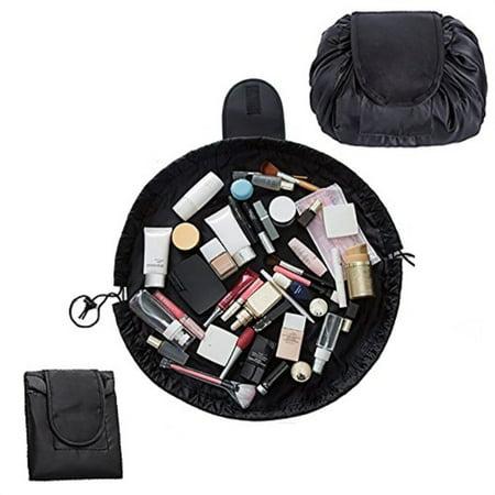 81b6b23be30f Lemoncy Lazy Portable Makeup Bag Waterproof Drawstring Cosmetic Bag Makeup  Storage Organizer Large Capacity Travel Makeup Pouch