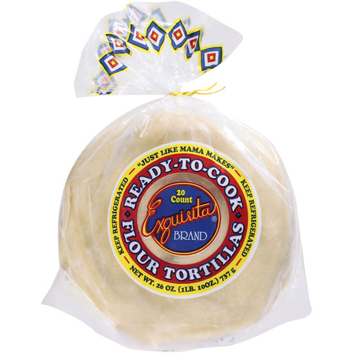 Exquisita Ready-To-Cook Flour Tortillas, 20 count, 26 oz