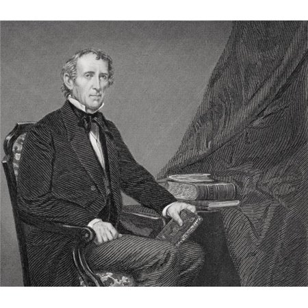 Posterazzi DPI1857753 John Tyler 1790 To 1862 10th President of The United States 1841 To 1845 From Painting by Alonzo Chappel Poster Print, 15 x 13 - image 1 of 1