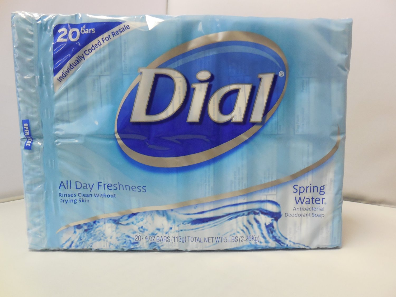 Dial All Day Freshness Spring Water 20 Bars by DIAL CORPORATION, THE
