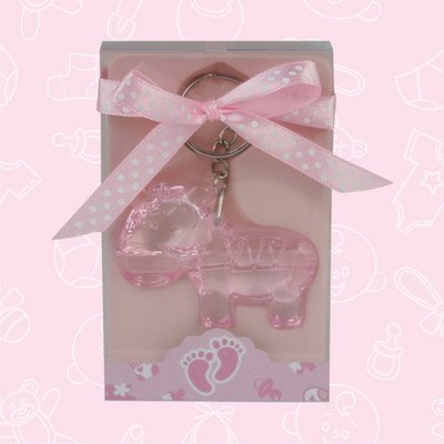 Baby Shower Cute Pink Baby Pacifier Acrylic Keychain