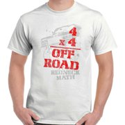 Four Wheeler Off Road Shirt   Funny Redneck Math Mudding Hick T-Shirt Tee