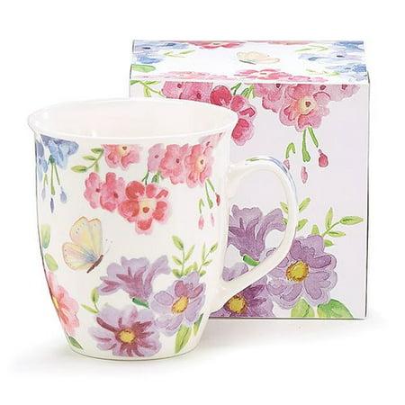 - August Grove Kopnisky Floral Bouquet Coffee Mug (Set of 6)