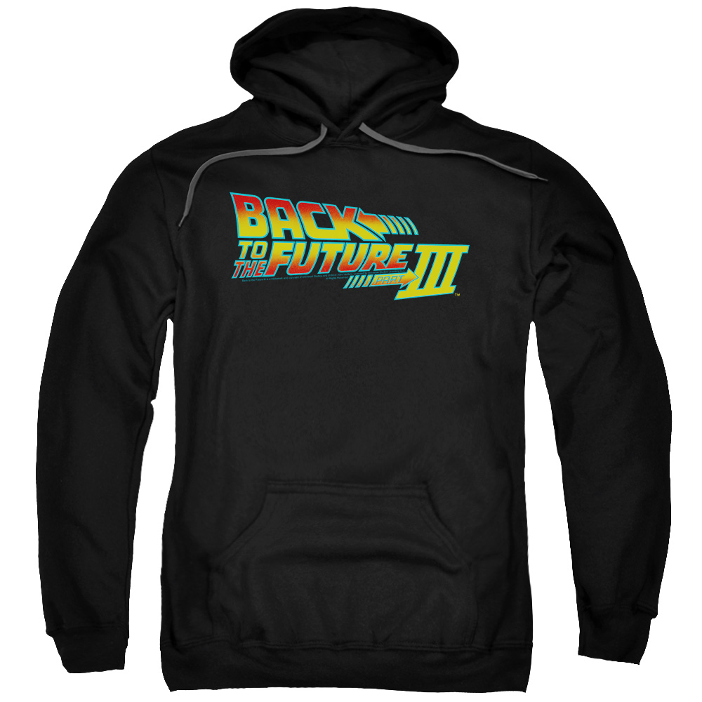 Back To The Future Iii Logo Mens Pullover Hoodie