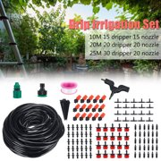 32ft 66ft 82ft Hose +Micro Water Flow Drip Irrigation Home Garden System Kit Patio Sprinkler Outdoor DIY Plant Self Watering Misting Cooling Tool Plastic