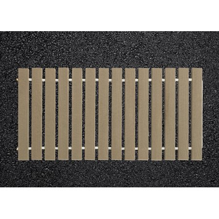 Furniture Barn USA® 4 Ft. Wide Roll-up Camp Walkway EverGrain® Decking - Cape Cod Gray - 10 Ft. Length ()