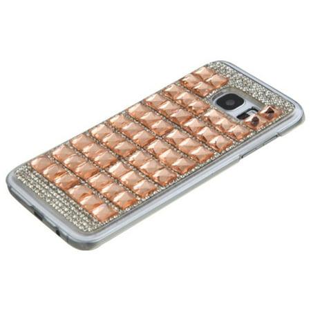 Insten Hard Diamond Cover Case For Samsung Galaxy S7 Edge - Rose Gold - image 2 de 3