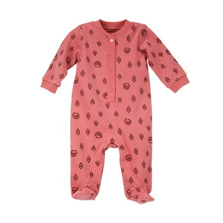 Girl Hedgehog - Hedgehog Geo Print Henley Sleep 'N Play Pajamas (Baby Girls)