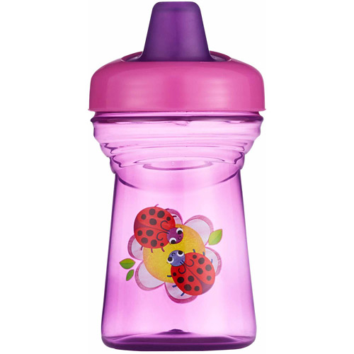 The First Years Soft Spout Sippy Cup with One Piece Lid, BPA-Free - 9oz, 2 pack, Ladybug and Butterfly
