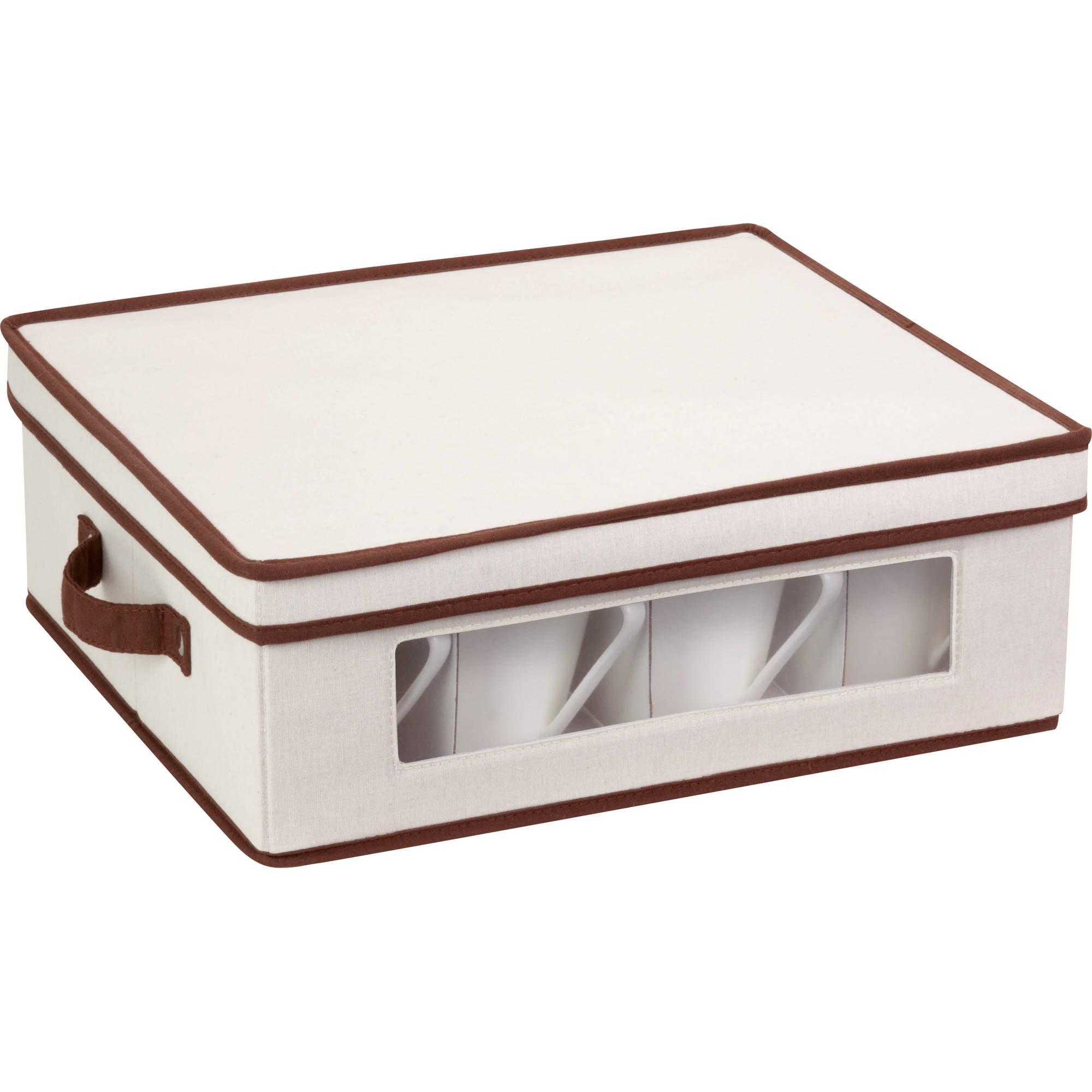 Honey Can Do Large 25lb Capacity Canvas Window Storage Box Beige/Brown - Walmart.com  sc 1 st  Walmart & Honey Can Do Large 25lb Capacity Canvas Window Storage Box Beige ...