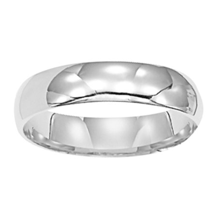 Keepsake 14kt White Gold Plain Wedding Band 5mm