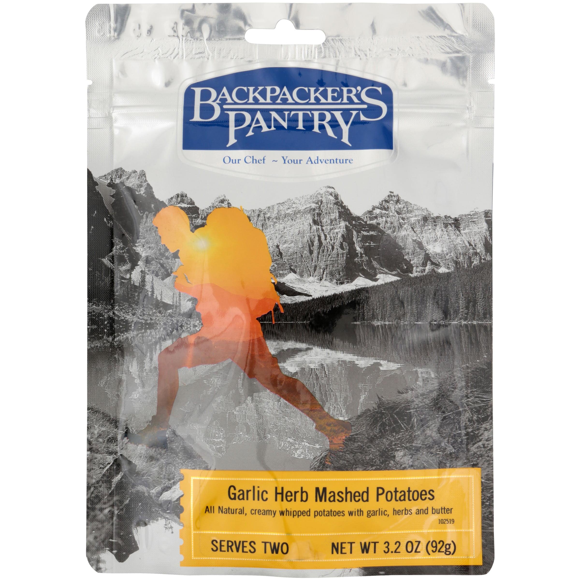 2 Servings Backpacker/'s Pantry Garlic Herb Mashed Potato