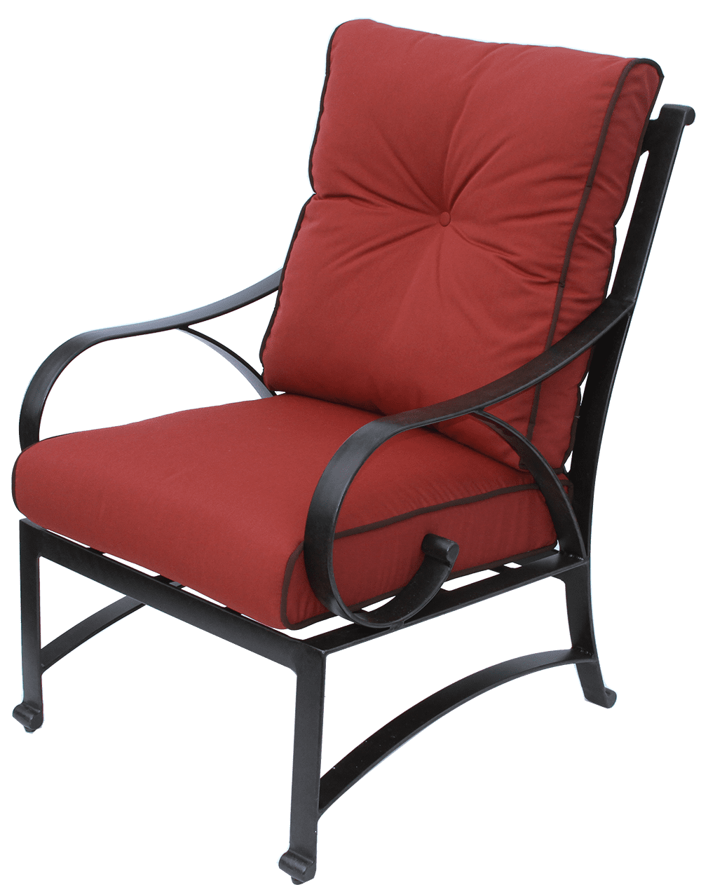 Newport Cast Aluminum Outdoor Patio Dining Chair With ...