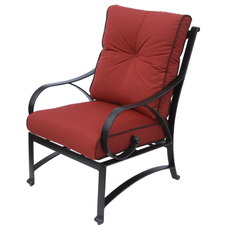 Newport Cast Aluminum Outdoor Patio Dining Chair With Cushion ()