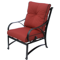 Newport Cast Aluminum Outdoor Patio Dining Chair With Cushion