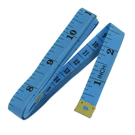 Unique Bargains 1 5M 60   Blue Soft Plastic Flexible Ruler Measure Tape For Sewing Tailor