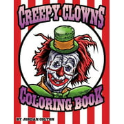 Creepy Clown Adult Coloring Book