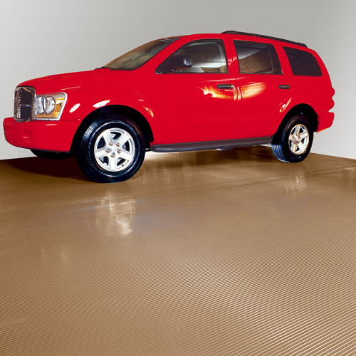 G-Floor Parking Pad Garage Floor Cover/Protector, 10' x 22', Ribbed, Sandstone
