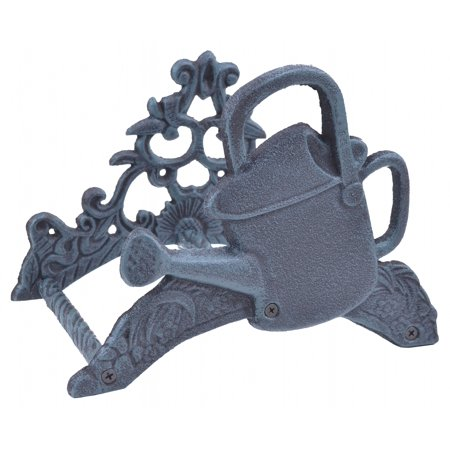 Garden Hose Holder Watering Can Verdigris Cast Iron 9 75 Wide