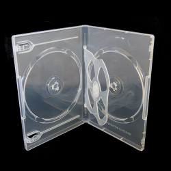 14mm Clear 4 Disc DVD Case With 1 Tray (100 pack)