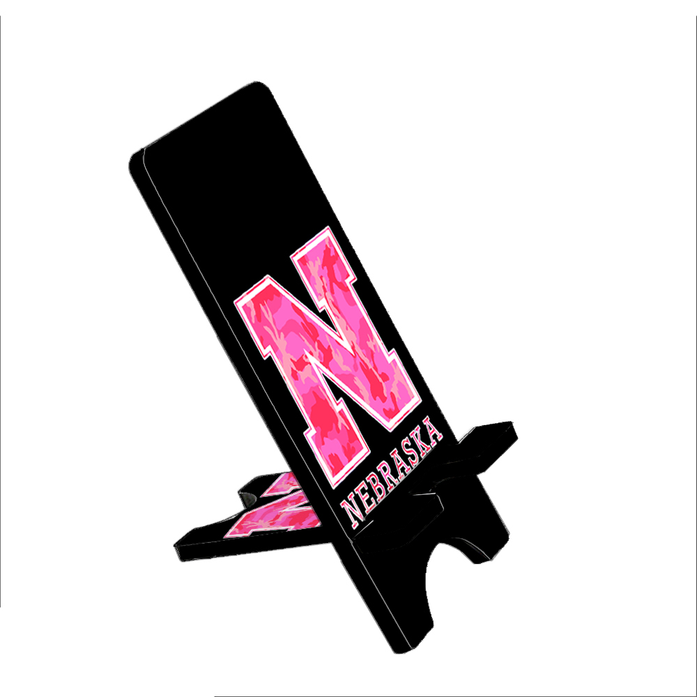 Nebraska Pink Camouflage - KuzmarK Folding Stand fits iPad Mini iPhone Samsung Galaxy