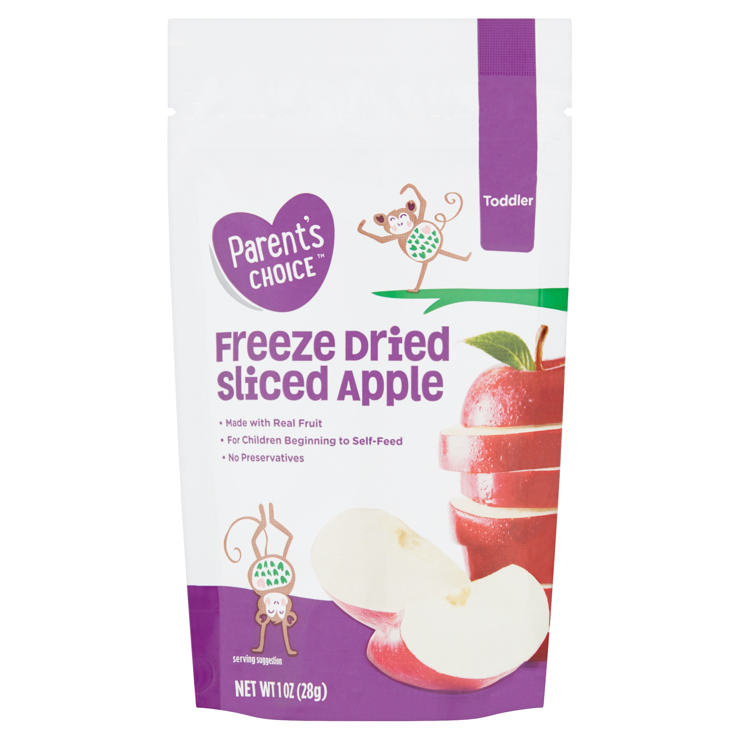 Parent's Choice Freeze Dried Sliced Apple, Toddler, 1 oz