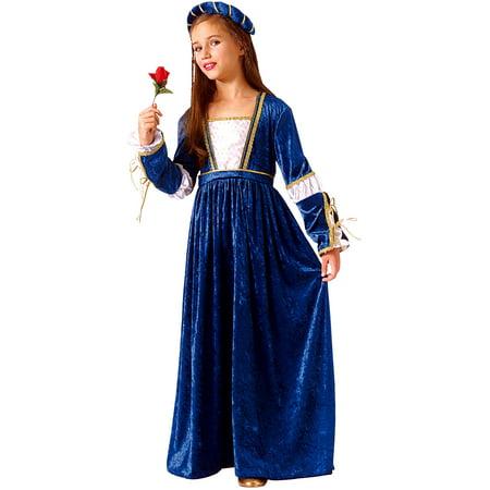 Juliet Deluxe Princess Girls Renaissance Costume R67196 - Medium (8-10) - Renaissance Girls Costume