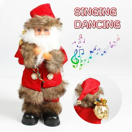 Santa Claus Electric Toy Battery-Operated Plush Singing Dancing Santa Doll Christmas Gift - Santa Claus Plush