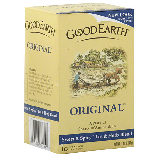 Good Earth Original Sweet & Spicy Tea & Herb Blend, 1.43 oz, (Pack of 6)