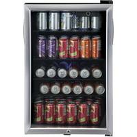 Haier 150 Can Locking Beverage Center HEBF100BXS, Stainless Steel