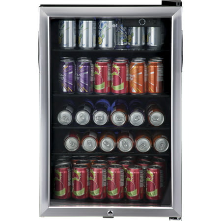 Haier 150 Can Locking Beverage Center HEBF100BXS, Stainless (Best Mini Fridge For Drinks)