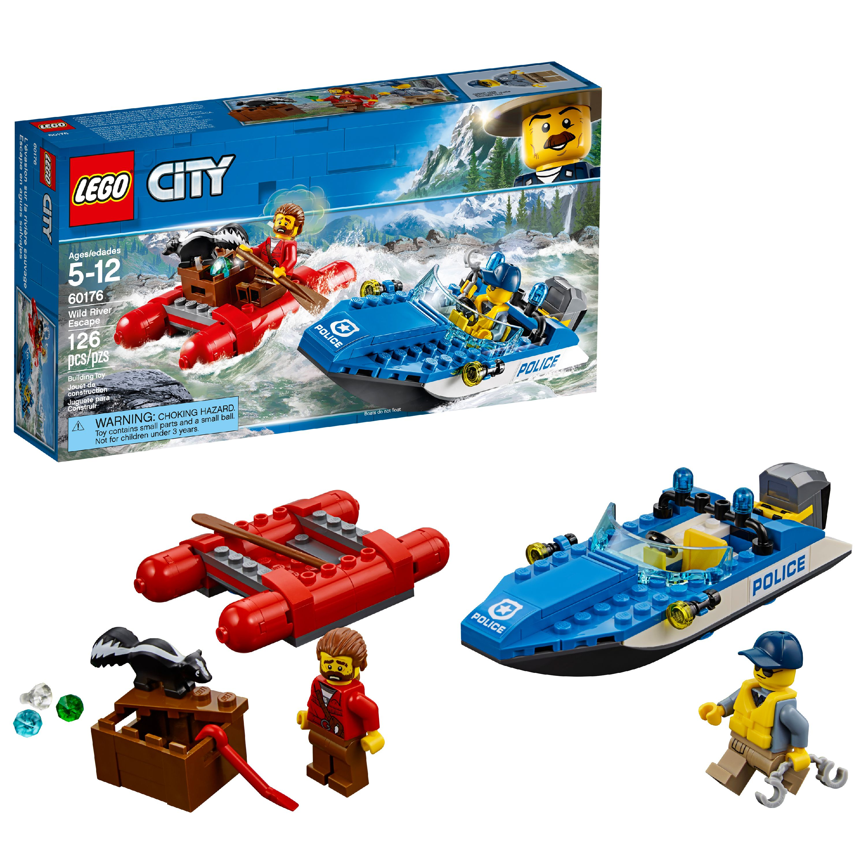 LEGO City Wild River Escape 60176 Building Set (126 Pieces)