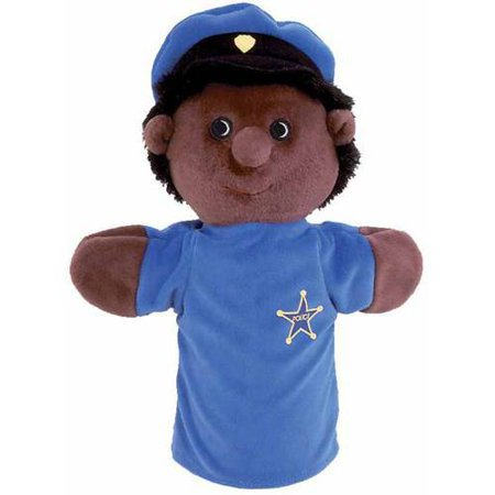 Mens Puppet - Get Ready Kids African American Police Officer Hand Puppet