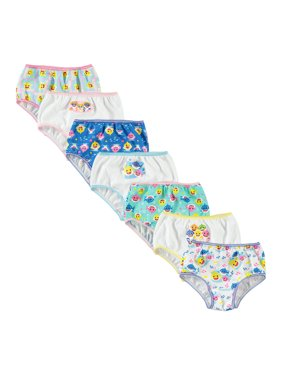 Baby Shark Underwear, 7-Pack (Toddler Girls)