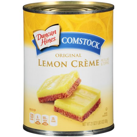 (3 Pack) Duncan Hines Comstock Original Lemon Crme Pie Filling & Topping, 21 (Lemon Pudding Bread)