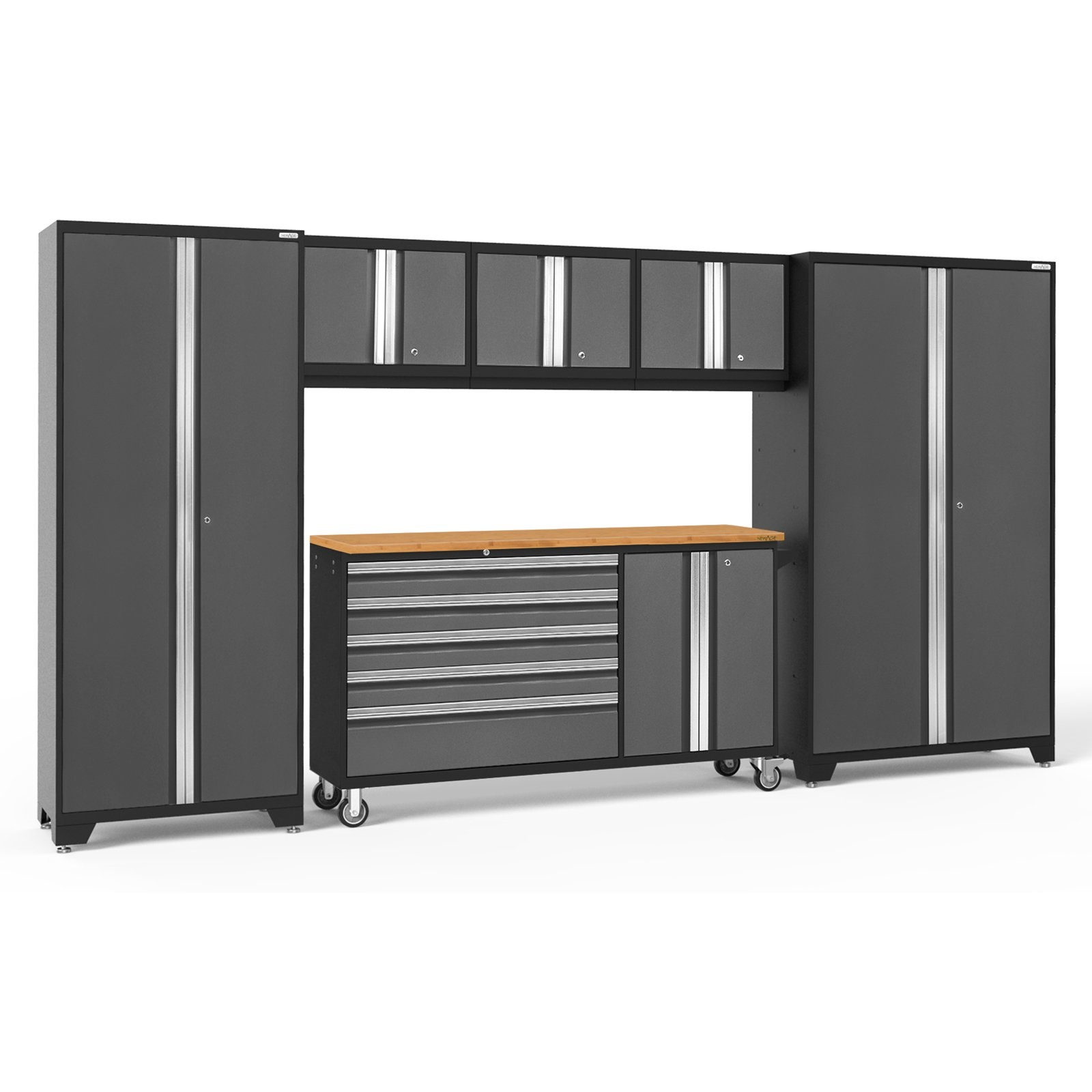 NewAge Products Bold 3.0 6 Piece Garage Cabinet System with 7 Shelves