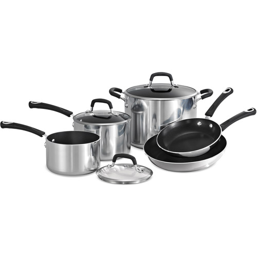 Click here to buy Tramontina Style 8-Piece Aluminum Non-stick Polished Cookware Set by Tramontina.