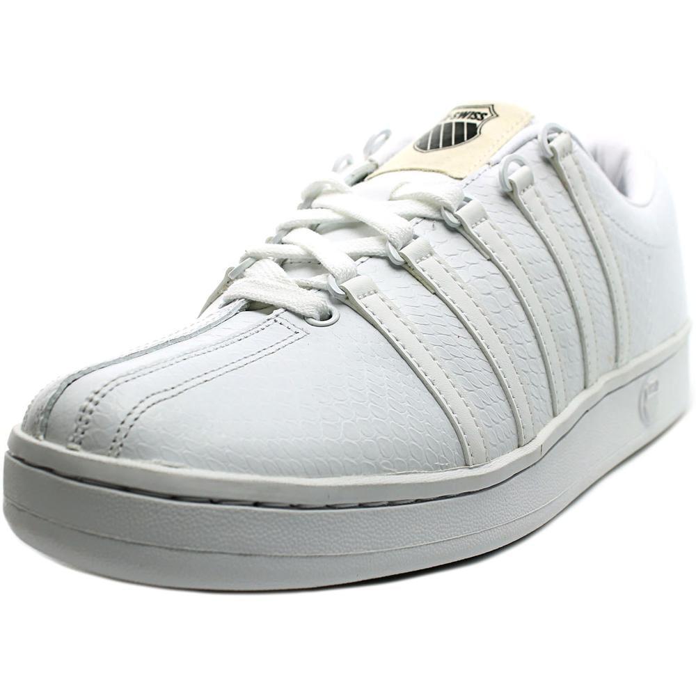 k swiss the classic p toe leather tennis shoe