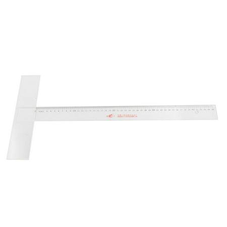 Unique Bargains Plastic 45cm Measure T Shaped Straight Ruler Black - Shaped Ruler
