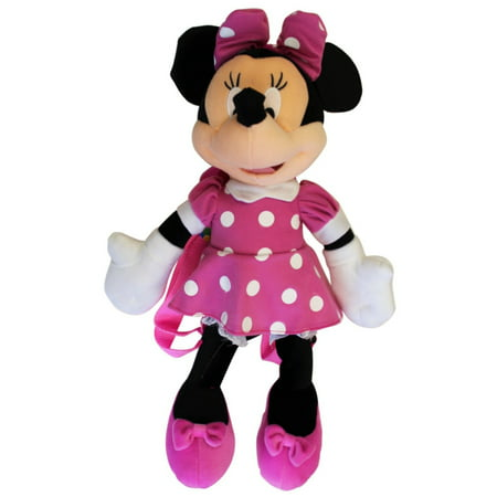 Plush Backpack - - Minnie Mouse 3D Pink Dot- New Doll Toys 28465](New Minnie Mouse Toys)