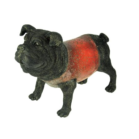 Bulldogs Glass Table (Large Red Crackle Glass Bulldog Accent Table Lamp Bull)