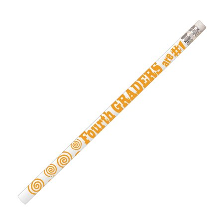4TH GRADERS ARE #1 12PK MOTIVATIONAL FUN - Motivational Pencils