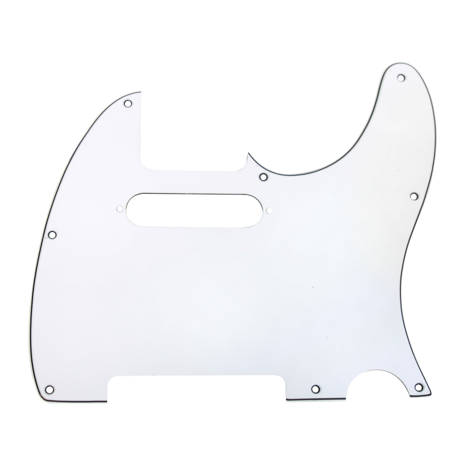 920D CS White 3 Ply Strat Cut Pickguard for Fender Tele CNC Precision Cut by