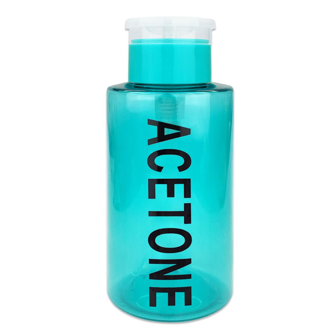 Pana High Quality 10oz Liquid Pump Dispenser With Acetone Label - Purple (1 Bottle)