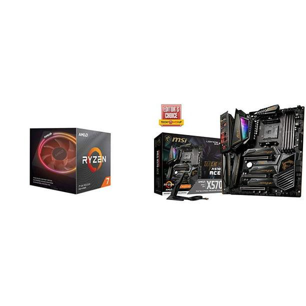Amd Ryzen 7 3800x 8 Core 16 Thread Unlocked Desktop Processor With Wraith Prism Led Cooler With Msi Meg X570 Ace Motherboard Walmart Com Walmart Com