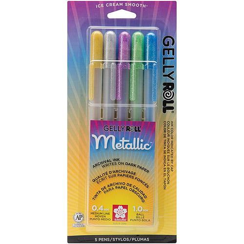 Sakura Metallic Gelly Roll Medium Point Pen, 5/pkg