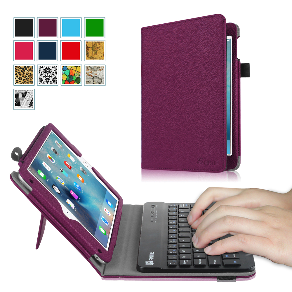 Fintie iPad mini 4 2015 Case - Premium PU Leather Folio Stand Cover with Removable Wireless Bluetooth Keyboard, Purple
