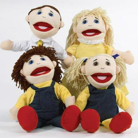 - Caucasian Family Puppet Set