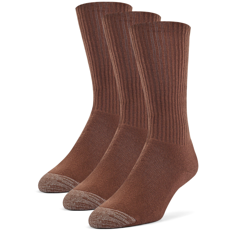 Men's Cotton ExtraSoft Crew Cushion Socks - 3 Pairs